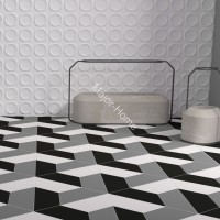 Плитка WOW FloorTiles Trapezium Floor  Grey matt