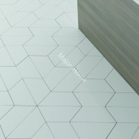 Плитка WOW FloorTiles Trapezium Floor  White matt